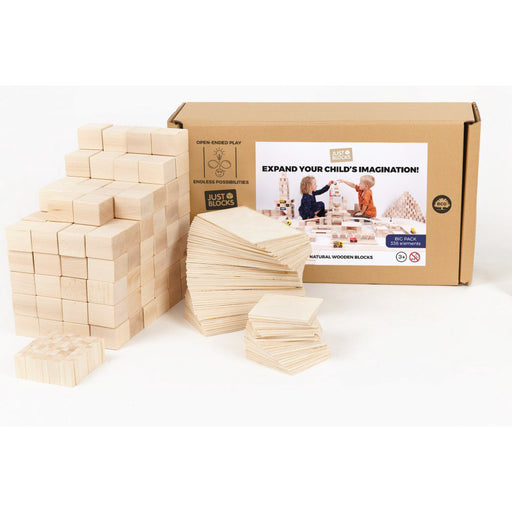 Just Blocks Wooden Blocks Big Pack 336 pieces