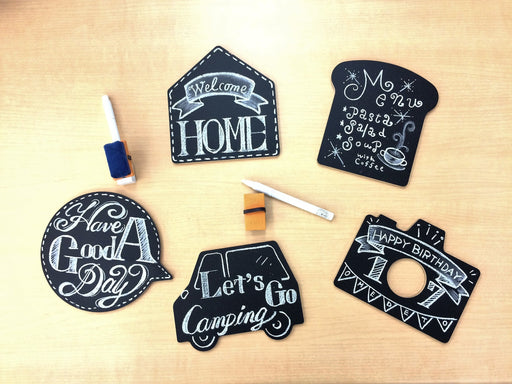 Kitpas Magnetic Chalkboard Shapes