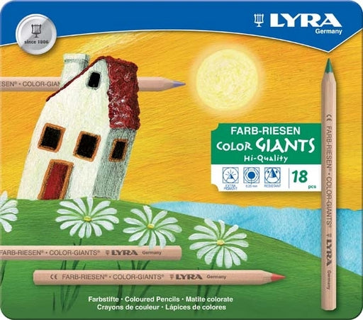 Lyra Colour Giants Pencil Set 18 in a Tin