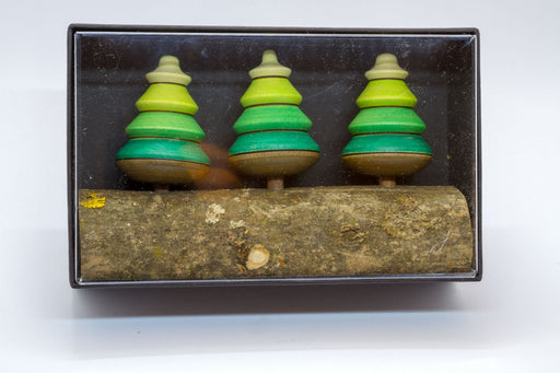 Mader Tree Spinning Top on Branch 3 pieces in Box