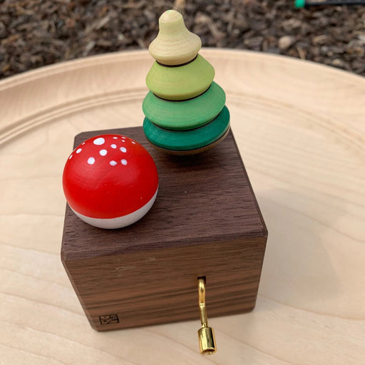Mader Music Box with Tree Top & Fly Agaric Turn Top