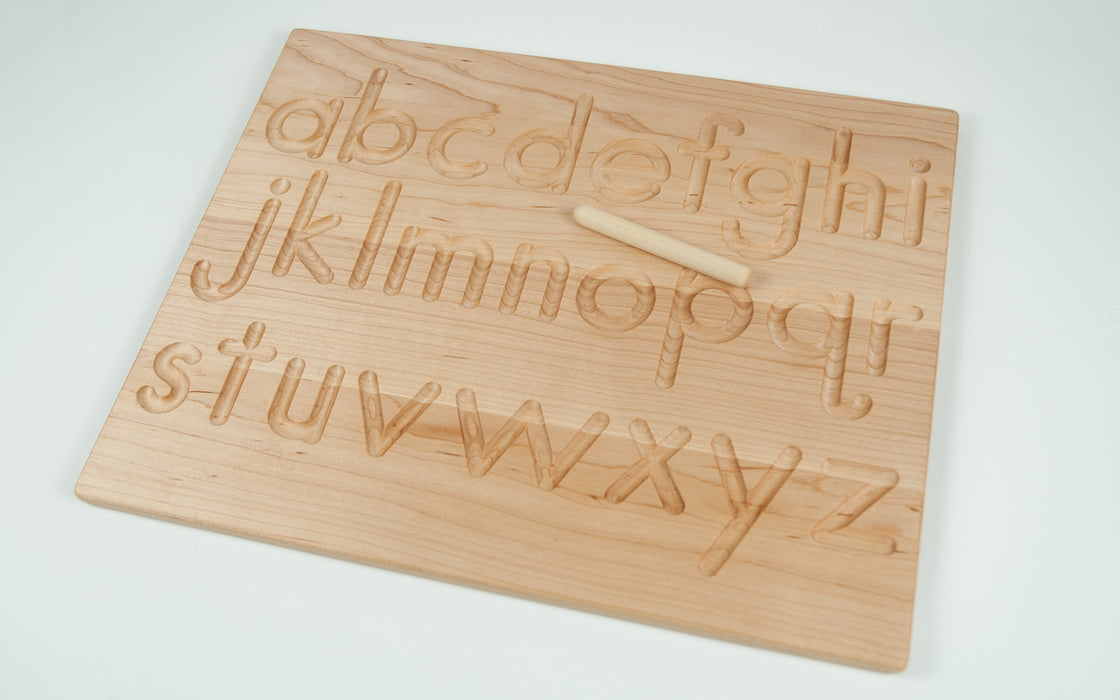 Reversible Wooden Alphabet Tracing Board Treasures From Jennifer