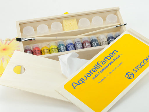 Stockmar Aquarelle 12x20 ml Watercolours in Wooden Box with accessories