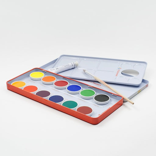 Stockmar Watercolour Paint Set in Tin 12 Opaque Colours