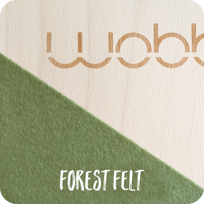 Wobbel Board Original Lacquered With Felt Forest Green Australia