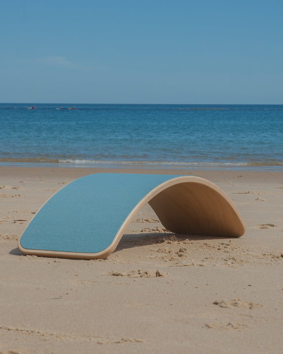 Wobbel Board Original Lacquered With Felt Sky Blue Australia