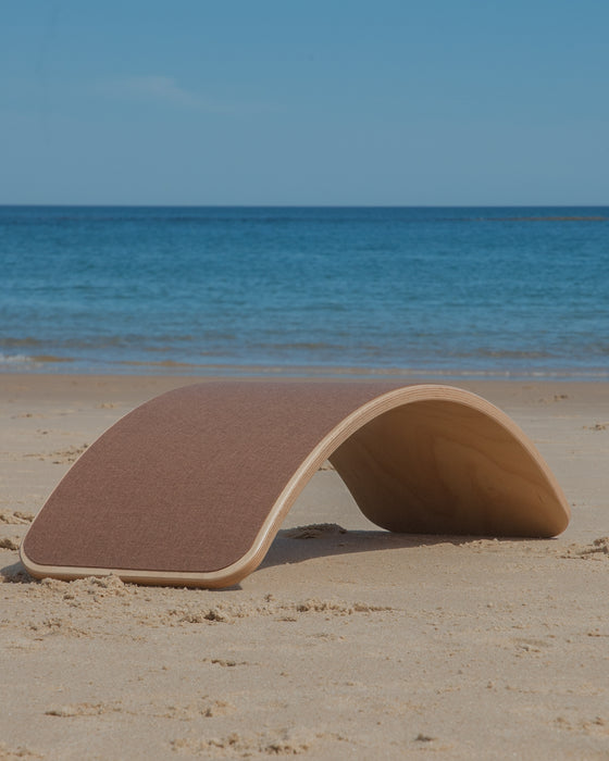 Wobbel Board Original Lacquered With Felt Wallaby Brown Australia