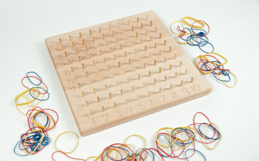 Wooden Maple Multiplication Hundred Geoboard Treasures From Jennifer