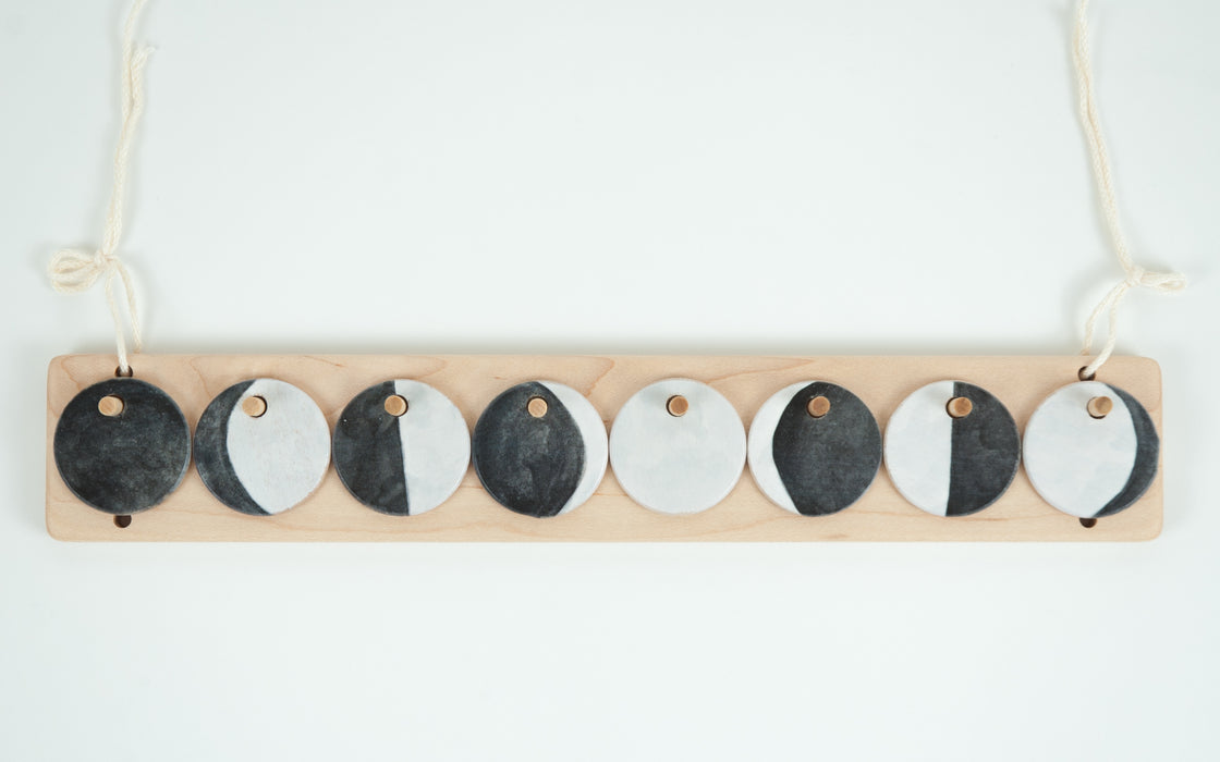 Wooden Moon Phases Extension Perpetual Montessori Calendar From