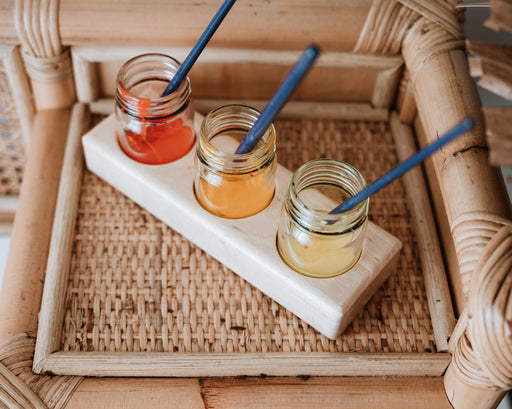 Wooden Paint Holder with 50 ml Glass Jars