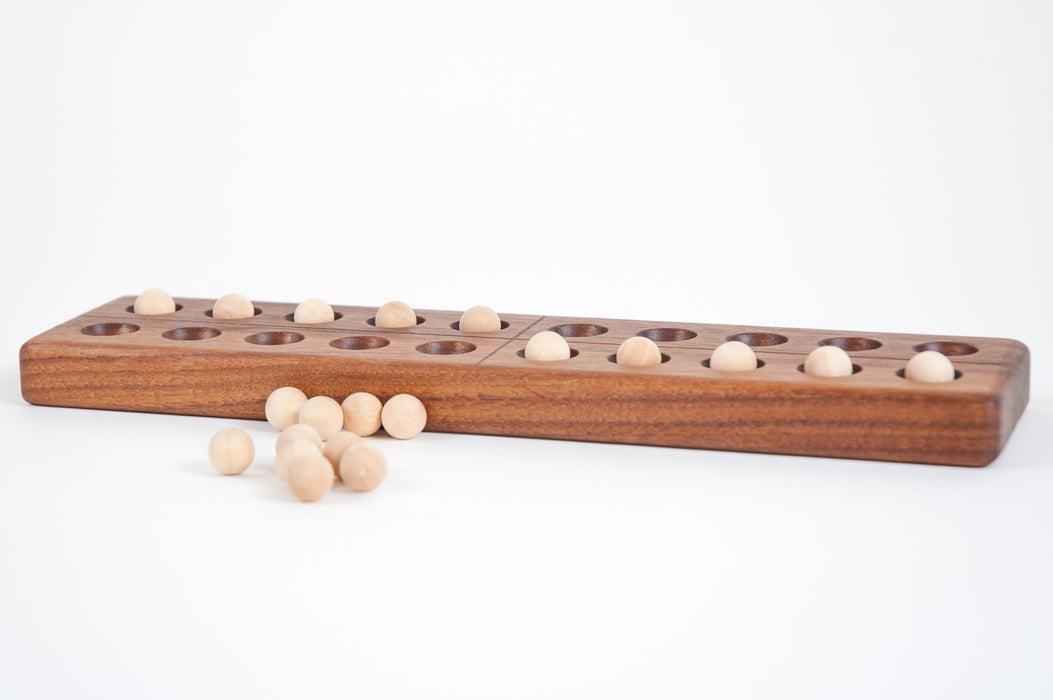 Wooden Walnut Twenty Frame with Wooden Balls Treasures From Jennifer