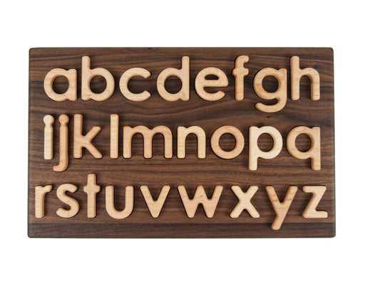 Wooden Walnut Lowercase Alphabet Letters Puzzle Treasures From Jennifer