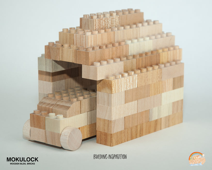 WT-MLBB014-R Mokulock Wooden Building Bricks Tsumiki 56 Pieces Australia