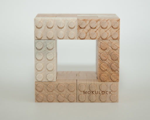 WT-MLBS024-R Mokulock Wooden Building Bricks 24 Pieces Australia