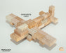 WT-MLBS034-R Mokulock Wooden Building Bricks 34 Pieces Australia