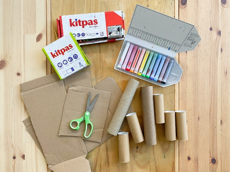 What you need to create your own cardboard trees