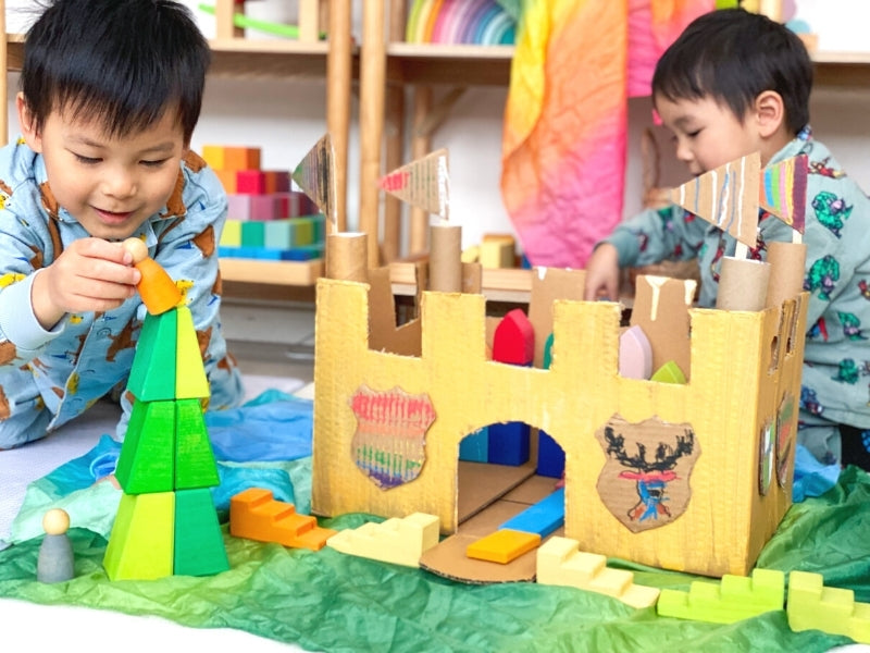 Your cardboard castle is ready for play.