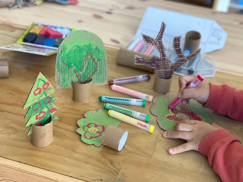 How to create your own recycled cardboard trees