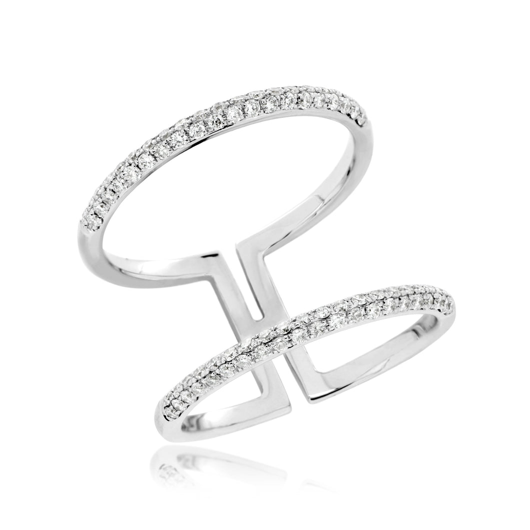 ADINA Ring DOUBLE mit 0.50 Karat Brillanten