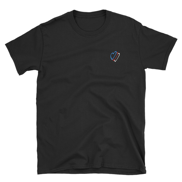 """RGB Heart"" Embroidered Tee"