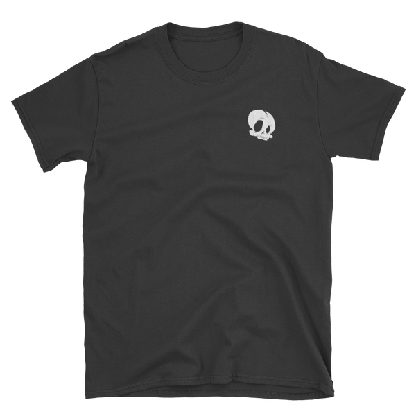 """Skullface"" Embroidered Tee"