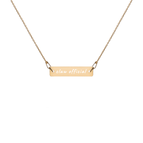 Claw Official Engraved Necklace