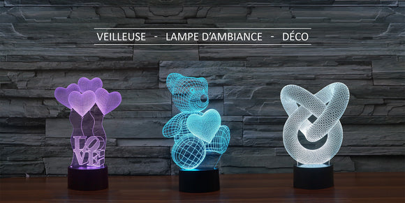 Nos Lampes 3D Animaux