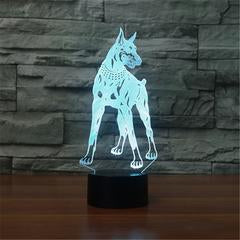 Lampe 3D LED Dobermann