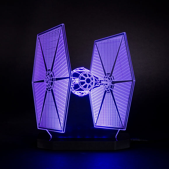 Lampe 3D LED TIE Fighter