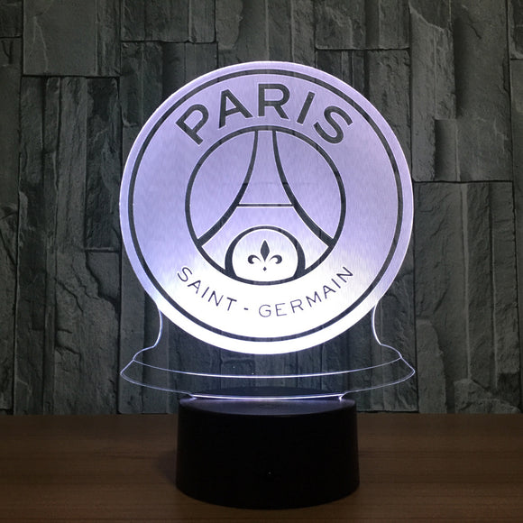 Lampe 3D LED PSG - Paris Saint Germain