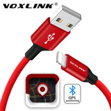 Câble iPhone Voxlink® Lightning vers USB en Fibre de Nylon Tressé (1m)