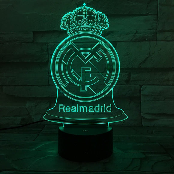 Lampe 3D LED Real de Madrid
