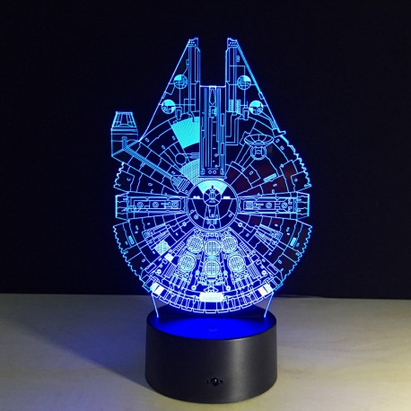 Lampe LED 3D Star Wars Millennium Falcon