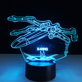 Lampe 3D LED X-Wing Fighter Edition Limitée