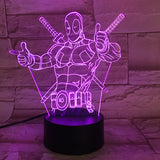 Lampe 3D LED Deadpool
