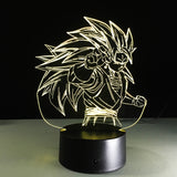 Lampe 3D LED Dragon Ball Z Vegeto SuperSayen 3