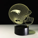 "Lampe 3D LED ""Edition spéciale SUPERBOWL"" Casque New England Patriots"