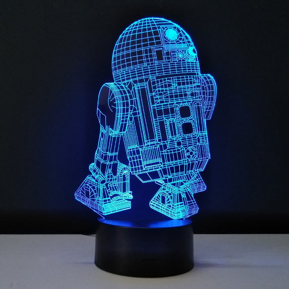 Lampe 3D LED Star Wars R2D2