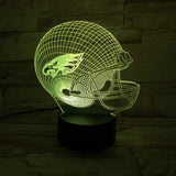 "Lampe 3D LED ""Edition spéciale SUPERBOWL"" Casque Eagles de Philadelphie"