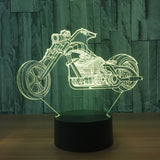 Lampe 3D LED Moto Bikers