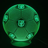 Lampe LED 3D Ballon de Foot FC Barcelone