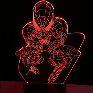 Lampe 3D LED Spider Man