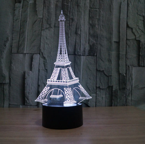 Lampe 3D LED Tour Eiffel