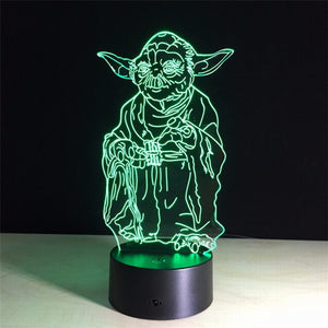 Lampe 3D LED Star Wars Yoda