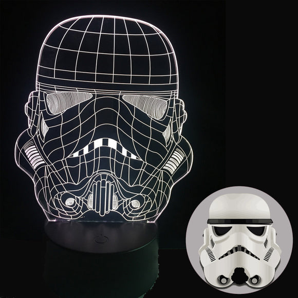 Lampe 3D LED  Stormtrooper