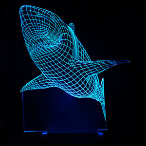 Lampe 3D LED Requin