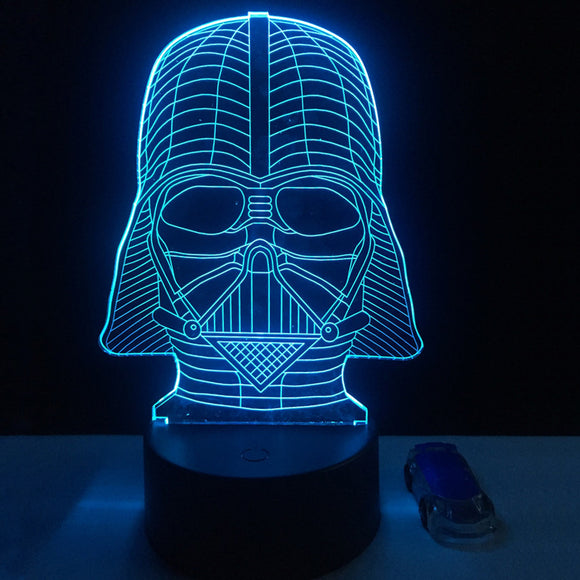 Lampe 3D LED Dark Vador Version 2