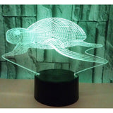 Lampe 3D LED Tortue