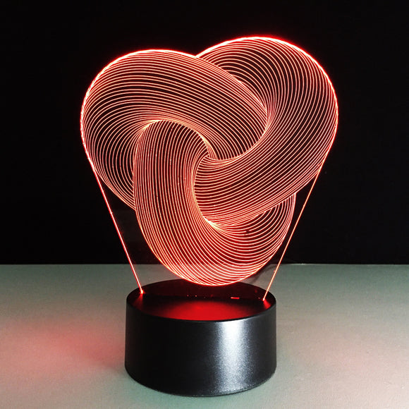 Lampe 3D LED Noeud