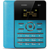 AIEK Q1 1.0 inch Ultra-thin Card Phone FM Audio Player Sound Recorder Alarm